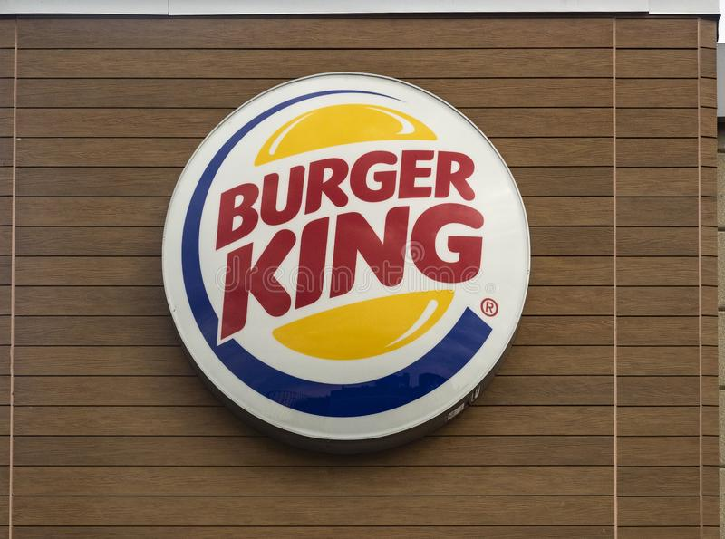 Logo znak Burger King obraz royalty free