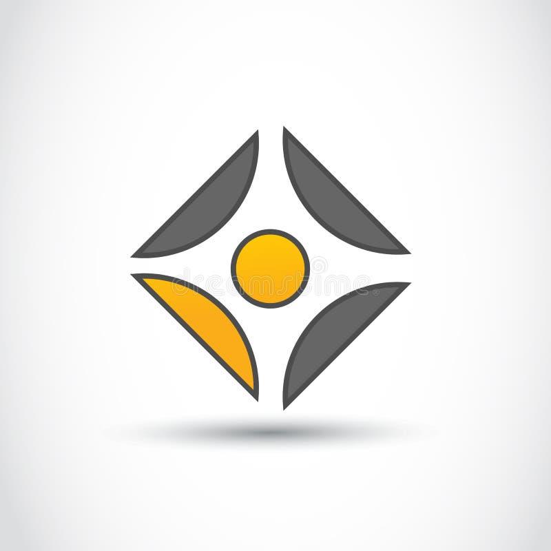 Logoaffär royaltyfri illustrationer
