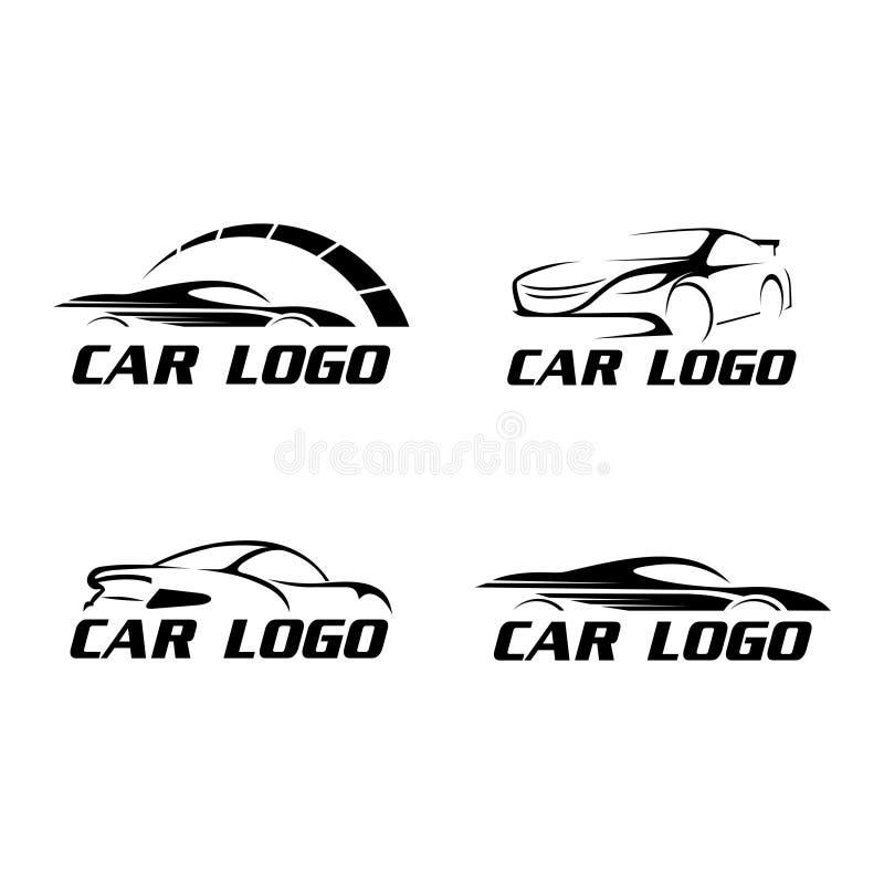 Logoauto-Sammlungsvektor der modernen Geschwindigkeit flacher vektor abbildung