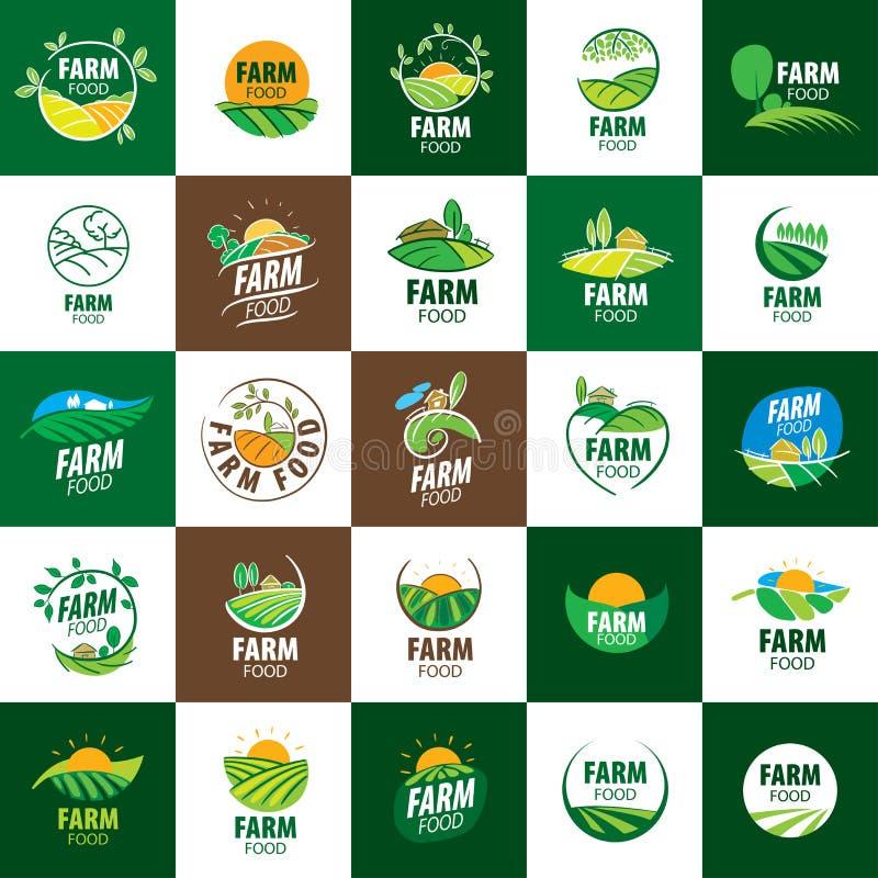 Logobauernhoflebensmittel lizenzfreie abbildung