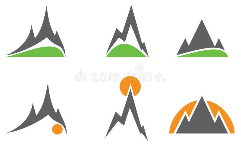 logoberg royaltyfri illustrationer
