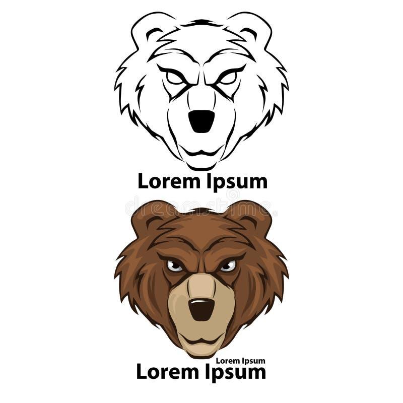 Logobjörn vektor illustrationer