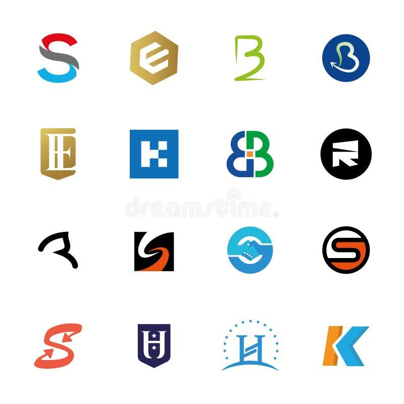 Logobuchstabe-Ikonensatz lizenzfreies stockfoto