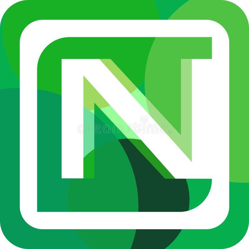 LogoBuchstabe N auf Lager bunt lizenzfreies stockbild