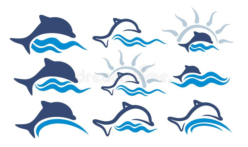 Logodelfin royaltyfri illustrationer
