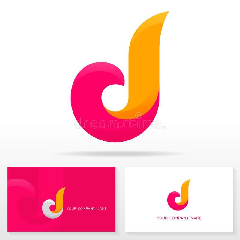 Logodesign för bokstav D - vektortecken vektor illustrationer