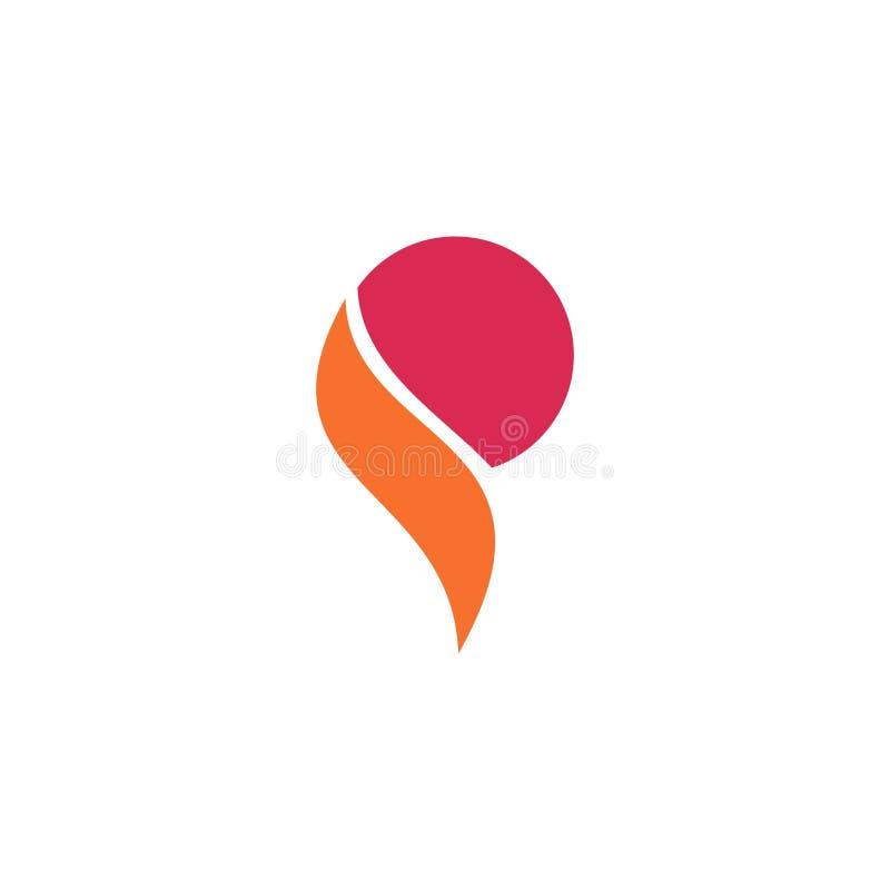 Logodesign för bokstav P stock illustrationer