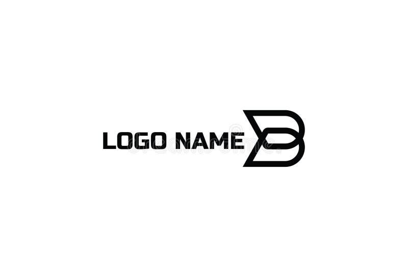 Logodesign för vektor B stock illustrationer