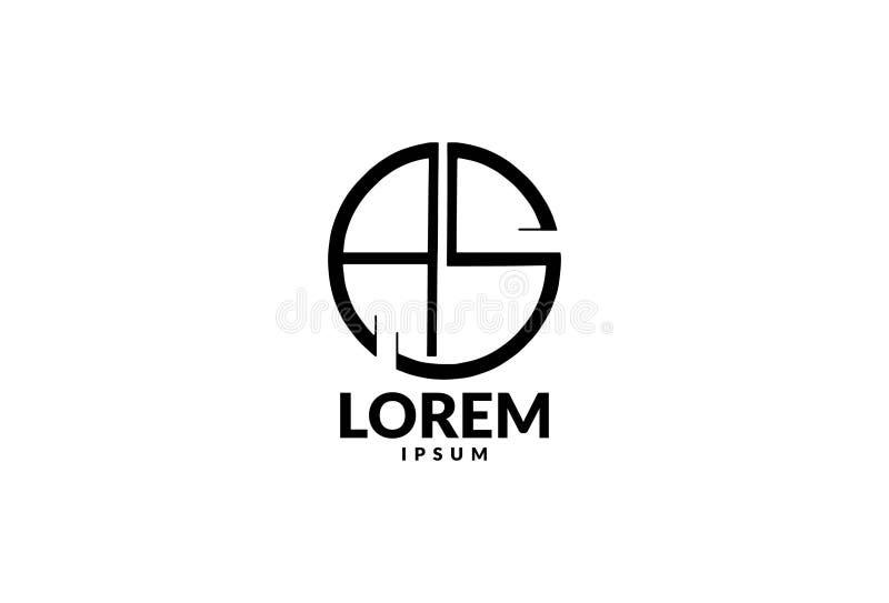Logodesign f?r bokstav S royaltyfri illustrationer