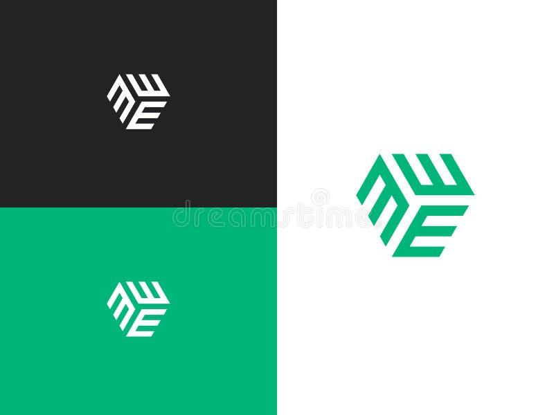 Logodesignmall 01 royaltyfri illustrationer
