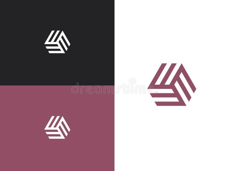 Logodesignschablone 124 stock abbildung