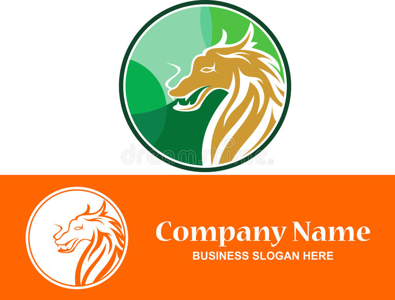 Logodrache auf Lager bunt lizenzfreies stockfoto