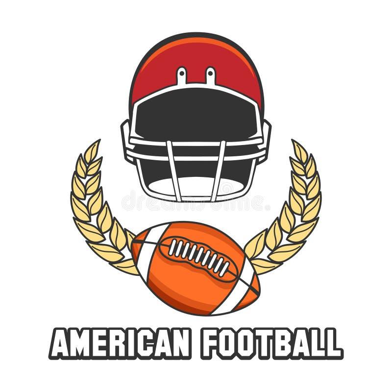 Logoemblem för amerikansk fotboll royaltyfri illustrationer