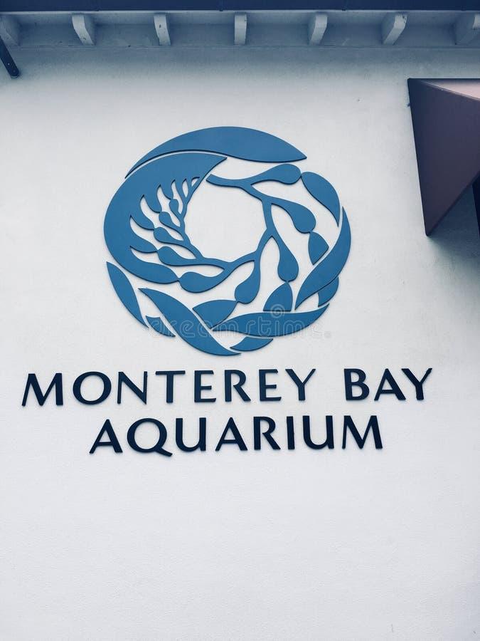 Logoen av det Monterey fjärdakvariet arkivfoto