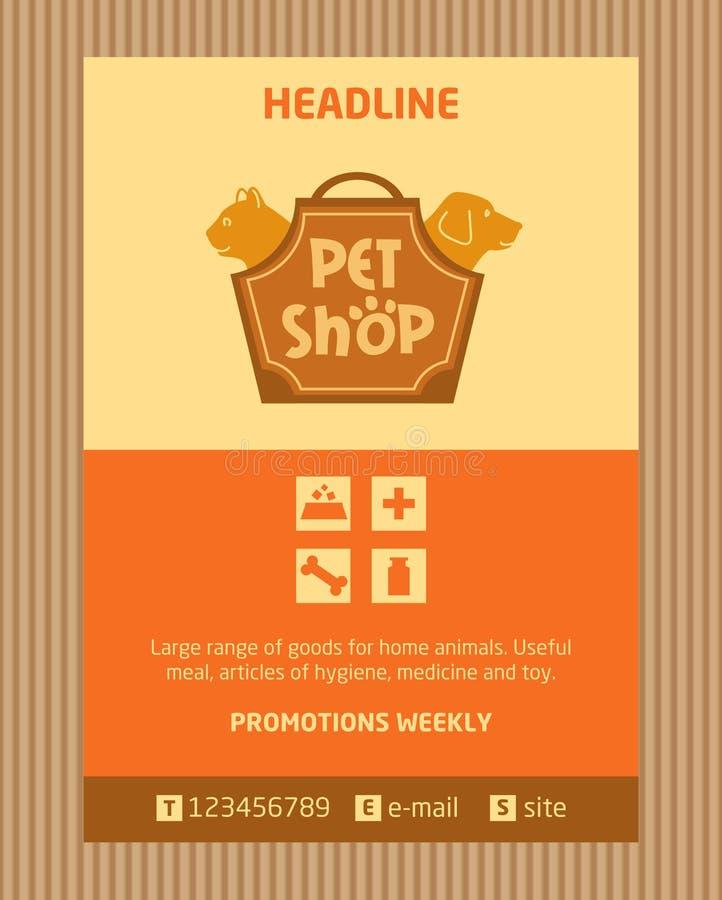 Logoen för älsklings- shoppar Broschyr reklambladdesignvektor stock illustrationer