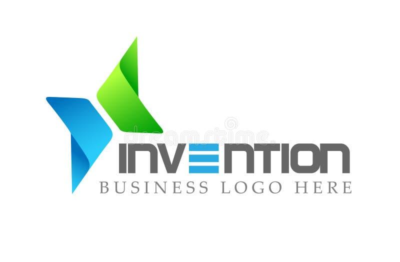 Logoen pilar formade två riktningar som fokuserades på företags, investerar affärslogodesign För logotypbegrepp för finansiell in vektor illustrationer
