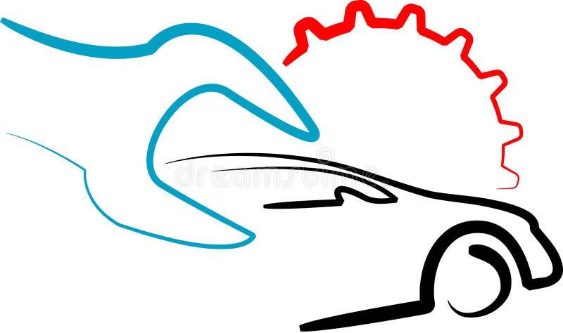 logoen shoppar arbete stock illustrationer