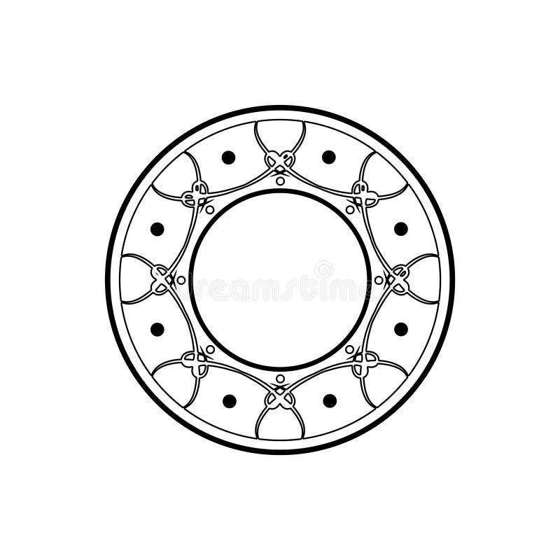 Logoentwurfs-Schablonenart des Vektors lineare mit Blumen und Blättern - auf schwarzem Hintergrund für Boutique, Restaurant, Hote lizenzfreie abbildung