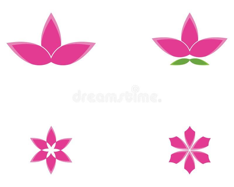 Logoer av mallen för logo för blommaskönhetbrunnsort stock illustrationer