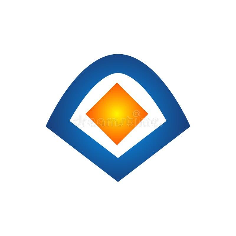 Logoer för design för Logo Out Of Box Icon beståndsdelmall stock illustrationer