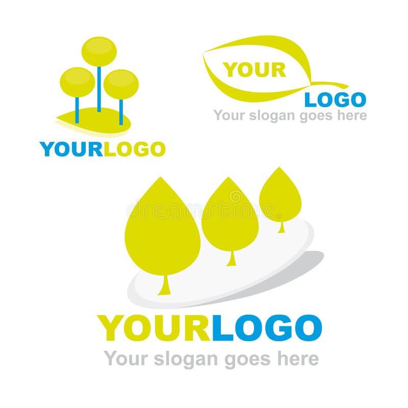 logoer för företagsecovänskapsmatch royaltyfri illustrationer
