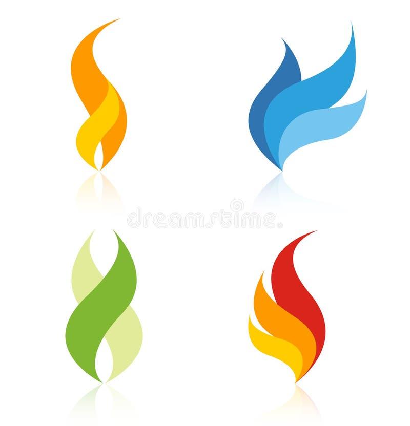 logoer för företagselementlogo stock illustrationer