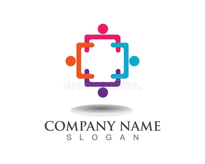 Logoer för folk för gemenskap för gemenskapfolklogoer stock illustrationer