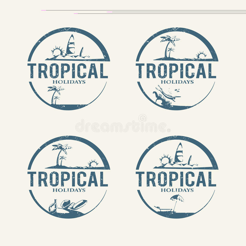 Logoer för sommarferie vektor illustrationer