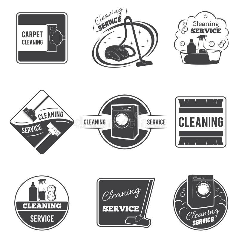 Logoer för vektor för tappninglokalvårdservice, emblem stock illustrationer