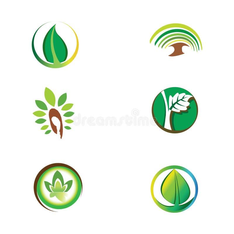 Logoer - grönt ekologiskt system royaltyfri illustrationer