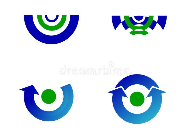 logoer modern u royaltyfri illustrationer