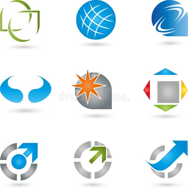 Logoer samling, service, IT stock illustrationer