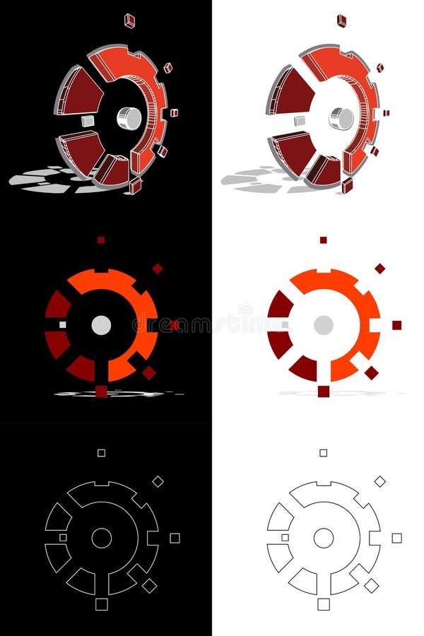 Logoevolution för mekaniker 3D royaltyfria foton