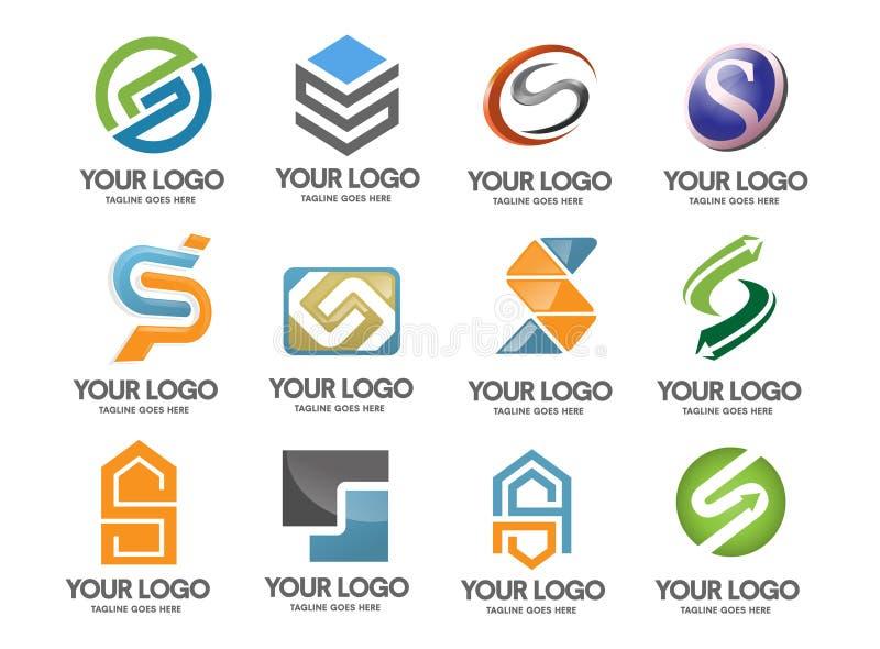 Logoföretag för bokstav S royaltyfri illustrationer