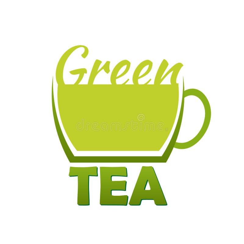 Logoföretag för grönt te Vektorlogoillustration vektor illustrationer