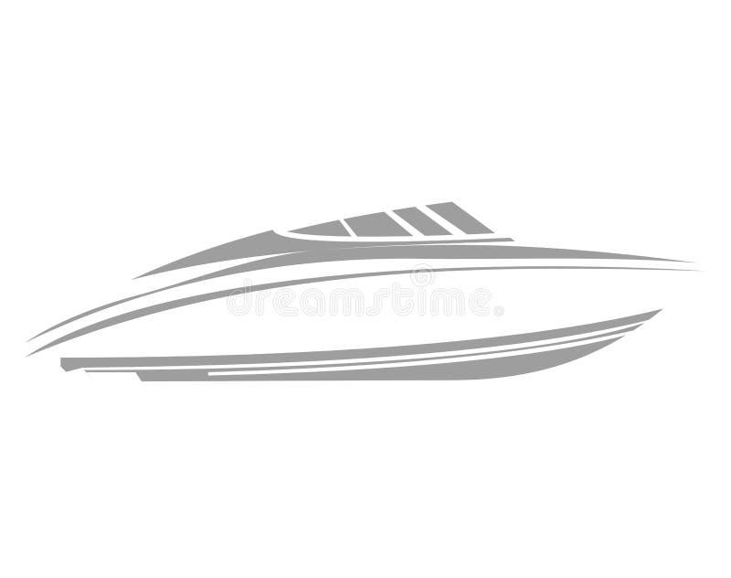 Logofartyg stock illustrationer
