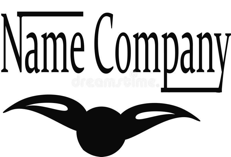 LogoFirmennamen stock abbildung