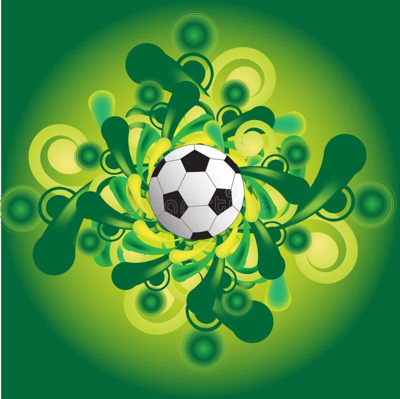 logofotboll vektor illustrationer