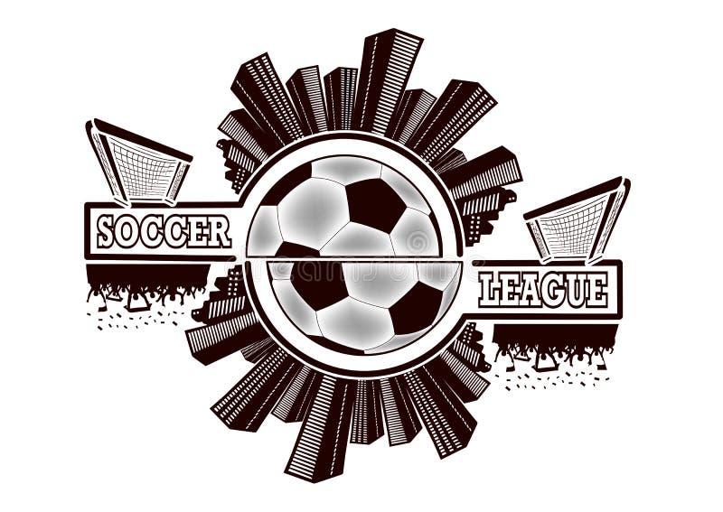 Logofotbollliga vektor illustrationer
