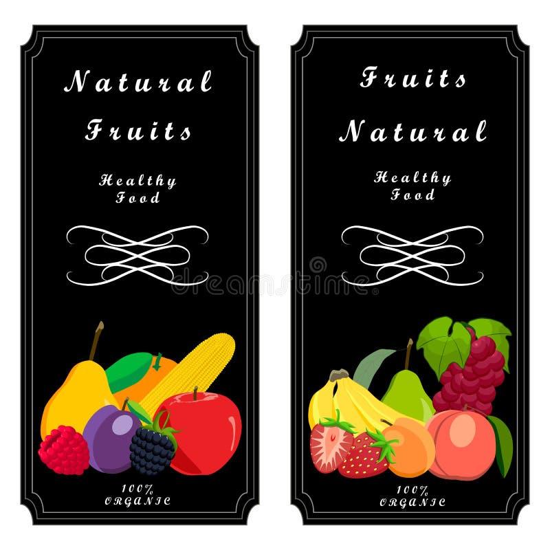 Logofrukt stock illustrationer