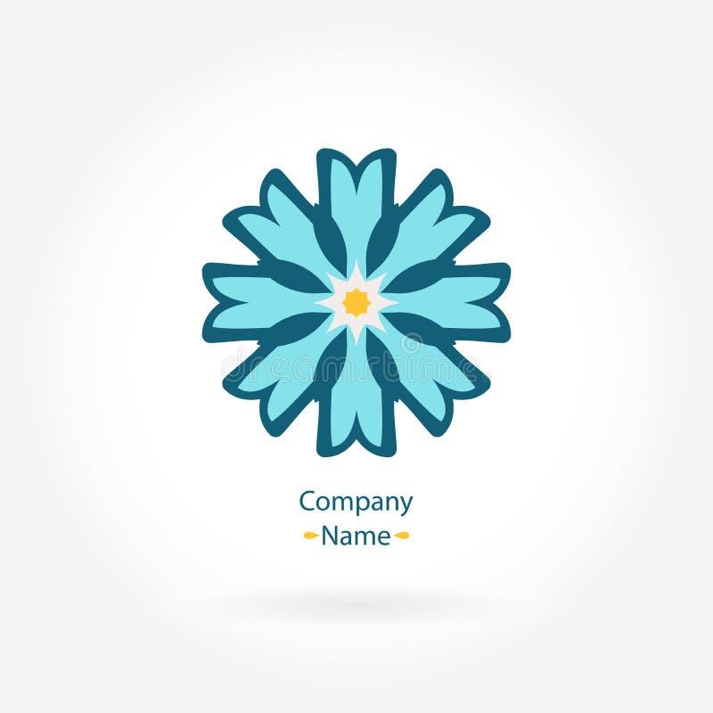 Logogänseblümchen Stilisiertes Blumenlogo für Butike Einfaches geometrisches Logo mandala stock abbildung