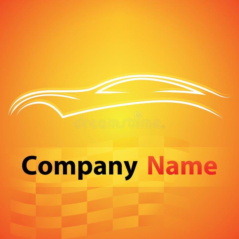 Logogaragen-Selbstautomobil stock abbildung
