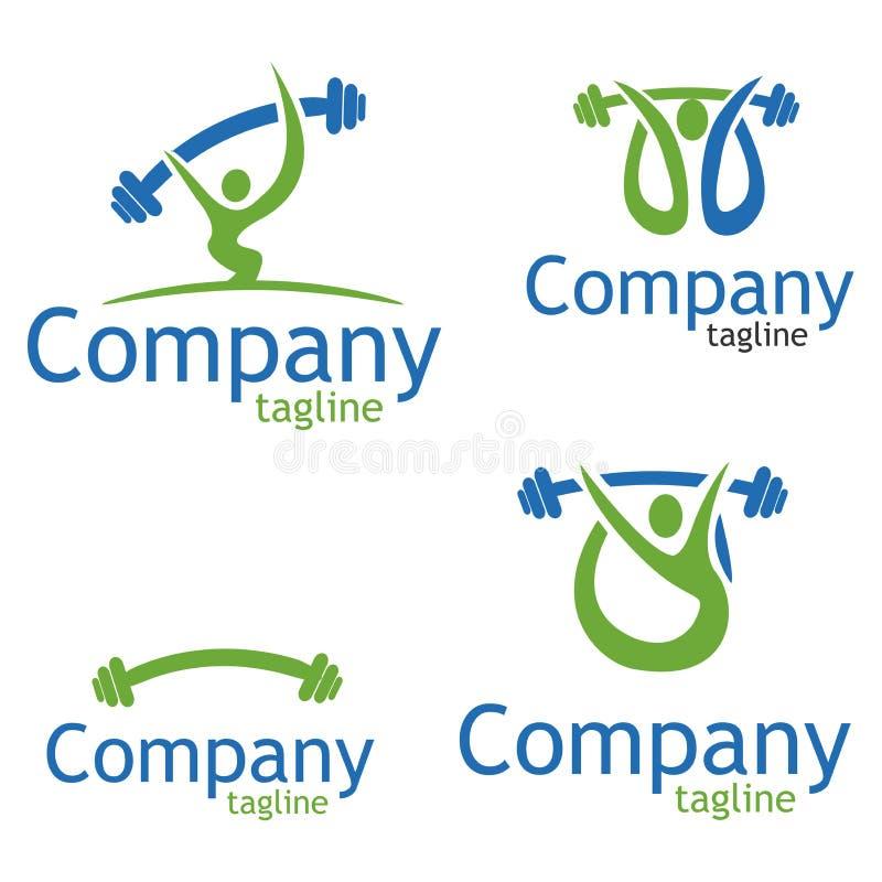 Logogewichtheben stock abbildung