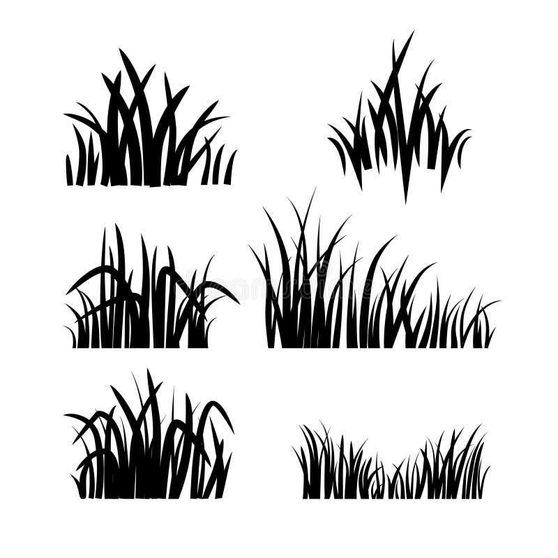 Logogräsuppsättning stock illustrationer