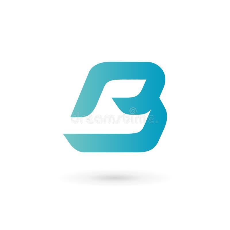 Logoikonendesign-Schablonenelemente des Buchstaben B vektor abbildung