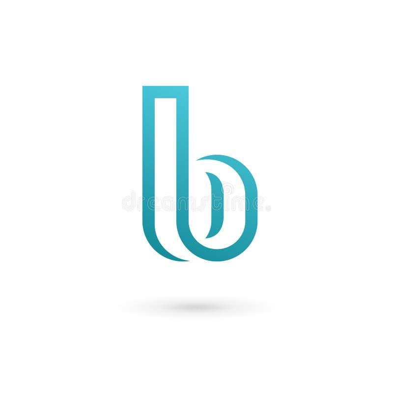 Logoikonendesign-Schablonenelemente des Buchstaben B lizenzfreie abbildung