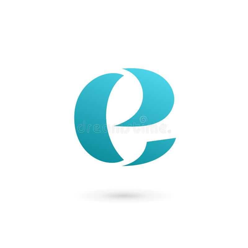 Logoikonendesign-Schablonenelemente des Buchstaben E stock abbildung