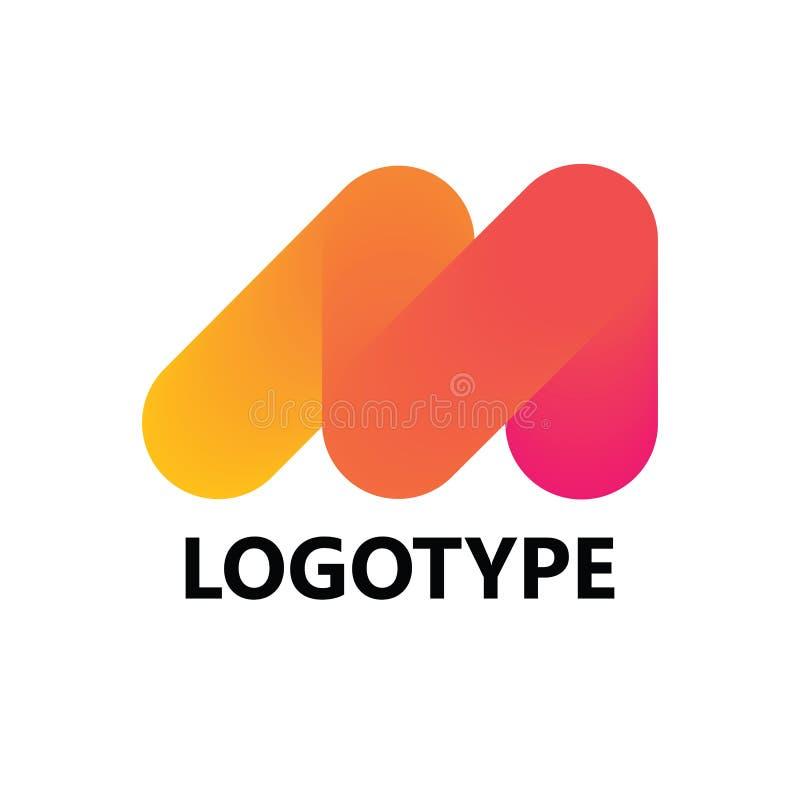 Logoikonendesign-Schablonenelemente des Buchstaben M lizenzfreie stockfotografie