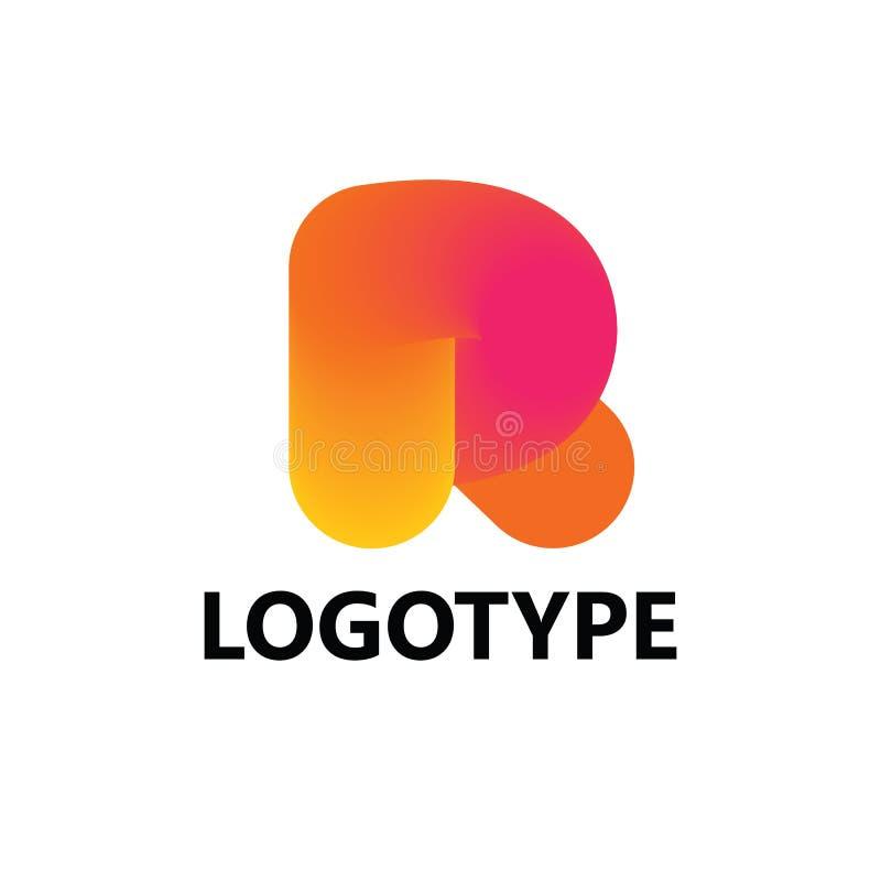 Logoikonendesign-Schablonenelemente des Buchstaben R lizenzfreies stockbild