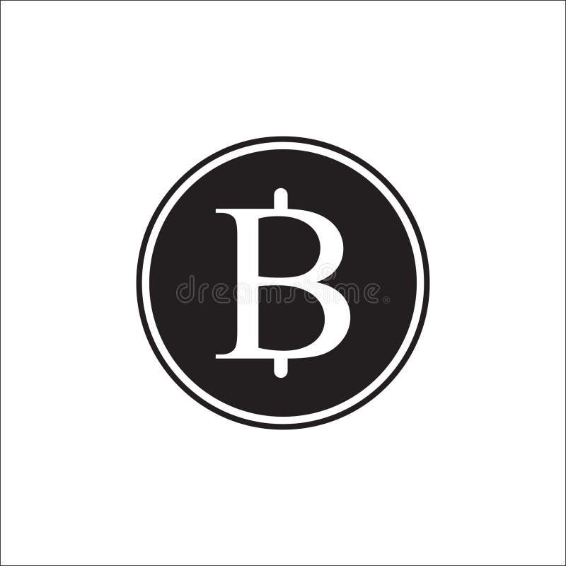 Logoillustration, för teckenvaluta för thailändsk baht Thailand vektor, bahtmyntvektor vektor illustrationer